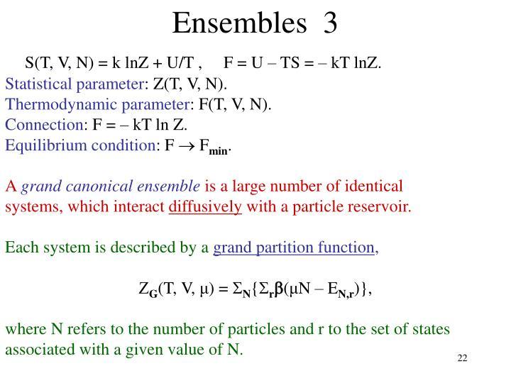 Ensembles  3