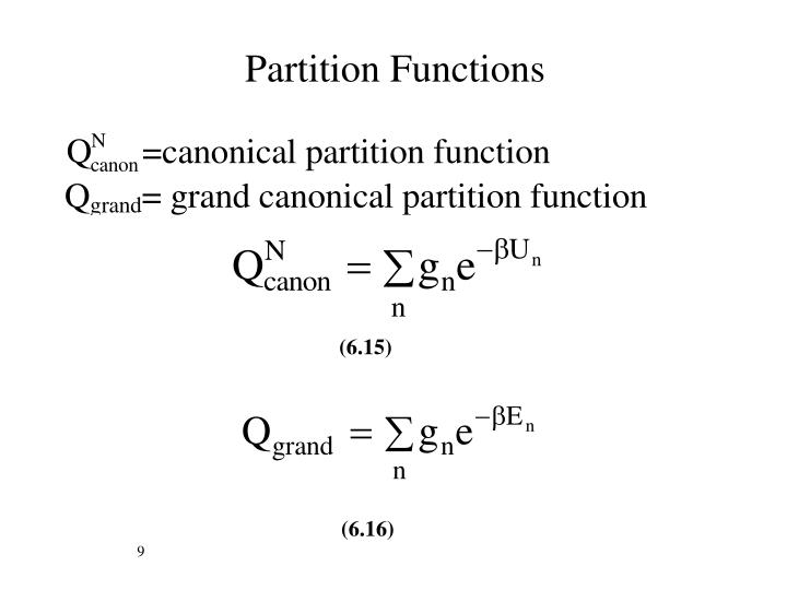 Partition Functions