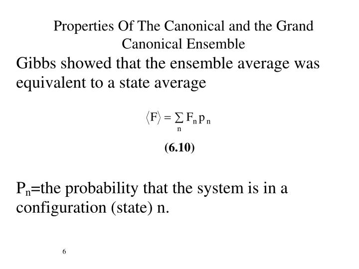 Properties Of The Canonical and the Grand Canonical Ensemble