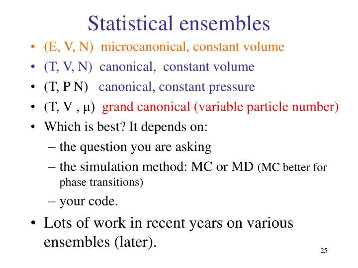 Statistical ensembles