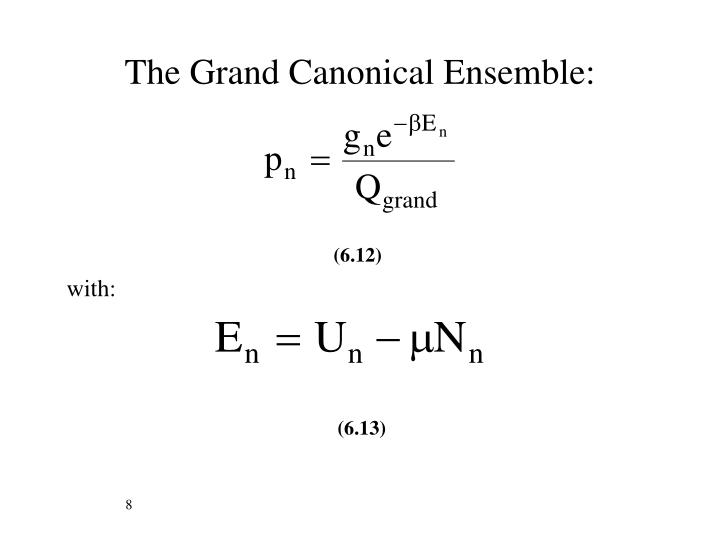 The Grand Canonical Ensemble:
