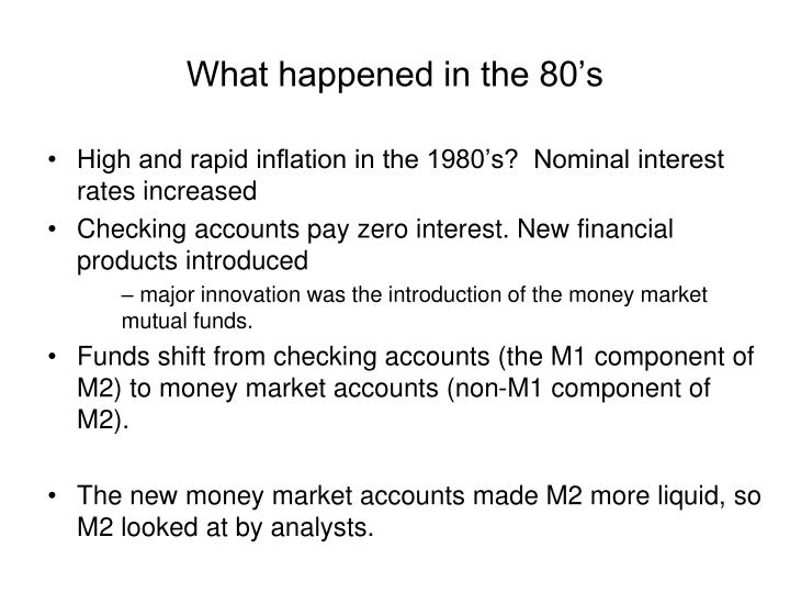 What happened in the 80's