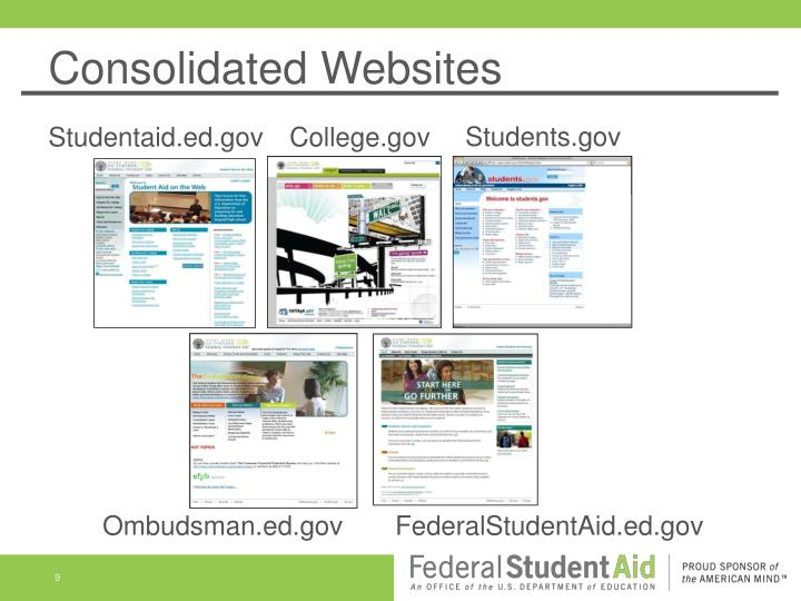 Consolidated Websites