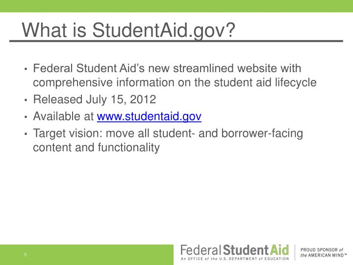 What is StudentAid.gov?