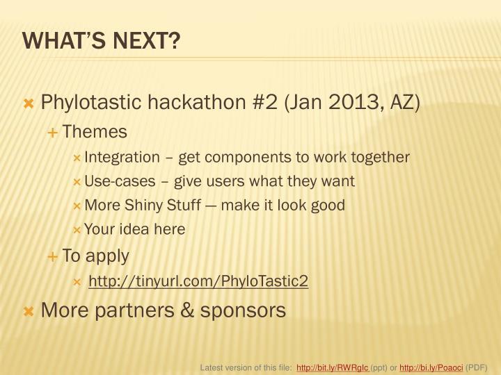Phylotastic hackathon #2 (Jan 2013, AZ)