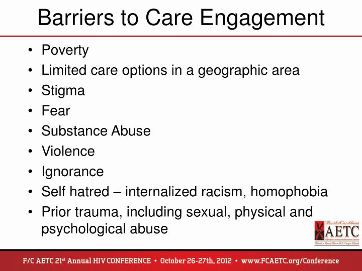 Barriers to Care Engagement
