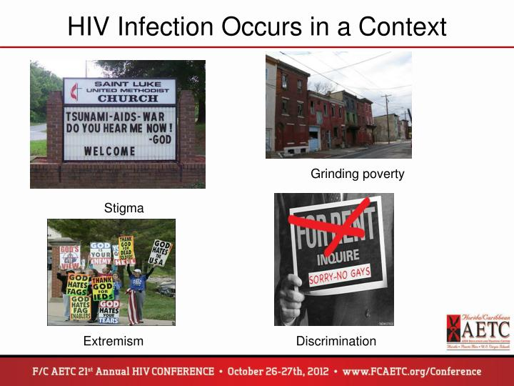 HIV Infection Occurs in a Context