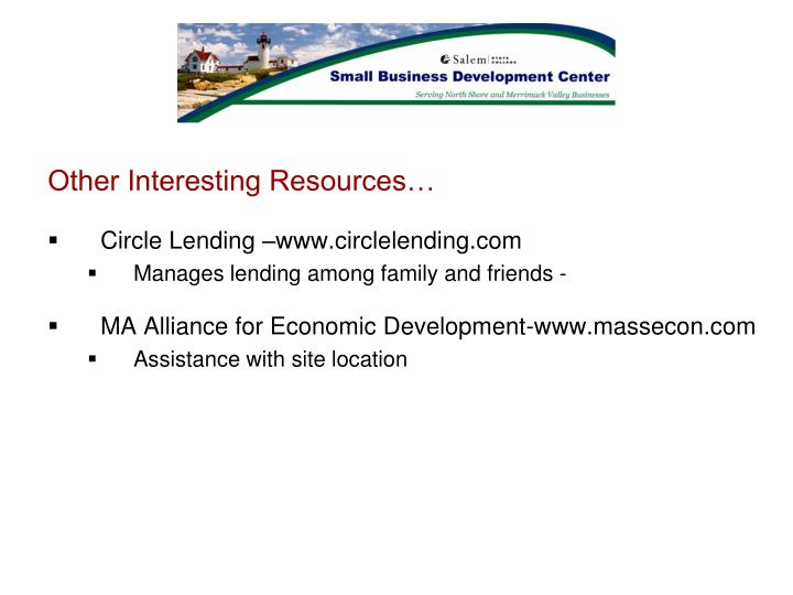 Other Interesting Resources…