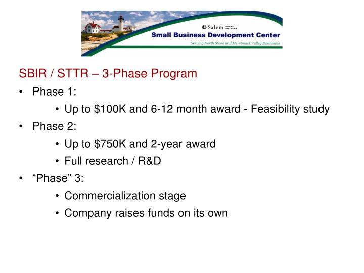 SBIR / STTR – 3-Phase Program