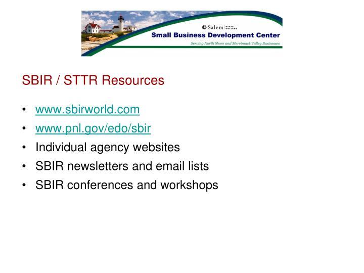 SBIR / STTR Resources