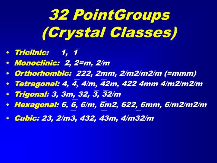 32 PointGroups