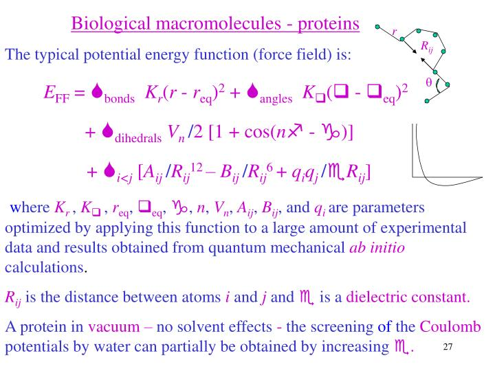 Biological macromolecules - proteins