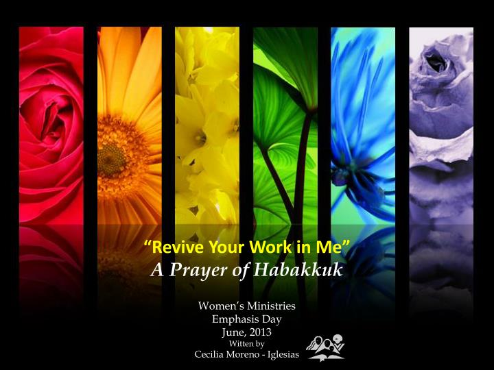 Revive your work in me a prayer of habakkuk