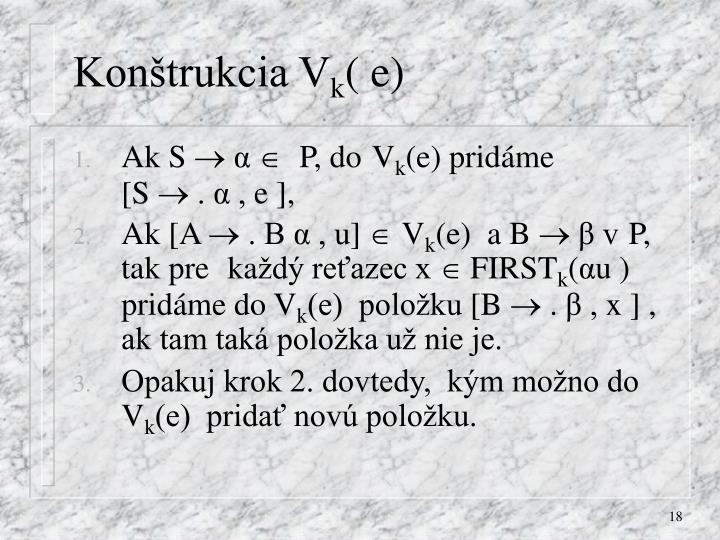 Konštrukcia V