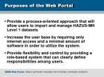 purposes of the web portal