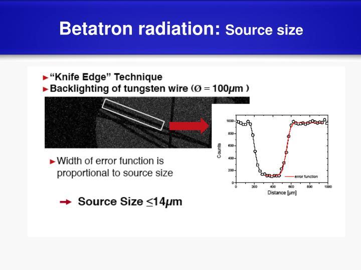 Betatron radiation: