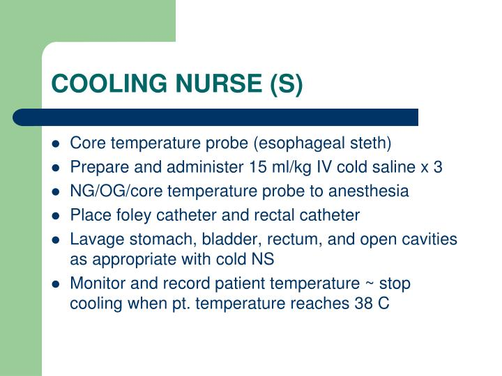 COOLING NURSE (S)