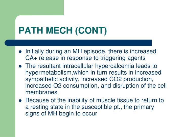 PATH MECH (CONT)