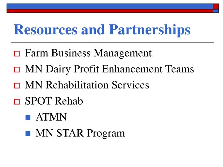 Resources and Partnerships