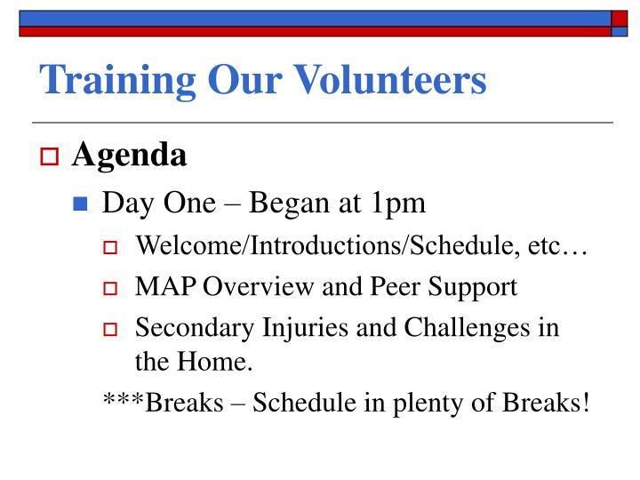 Training Our Volunteers