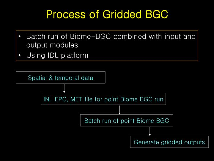 Process of gridded bgc