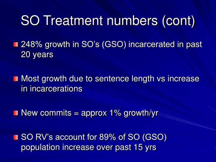SO Treatment numbers (cont)