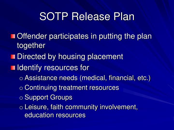 SOTP Release Plan