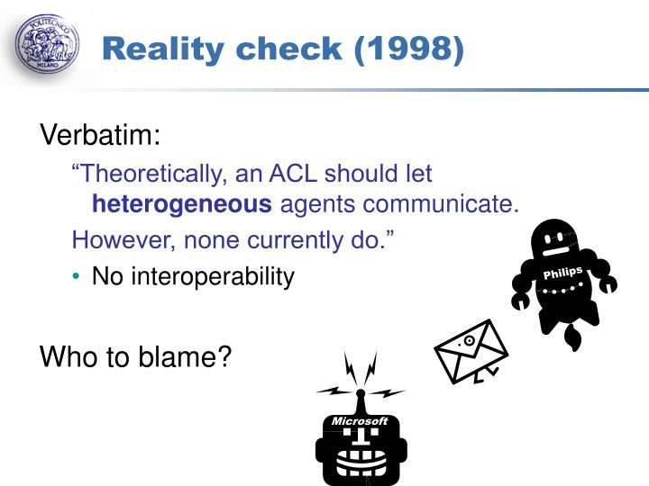 Reality check (1998)