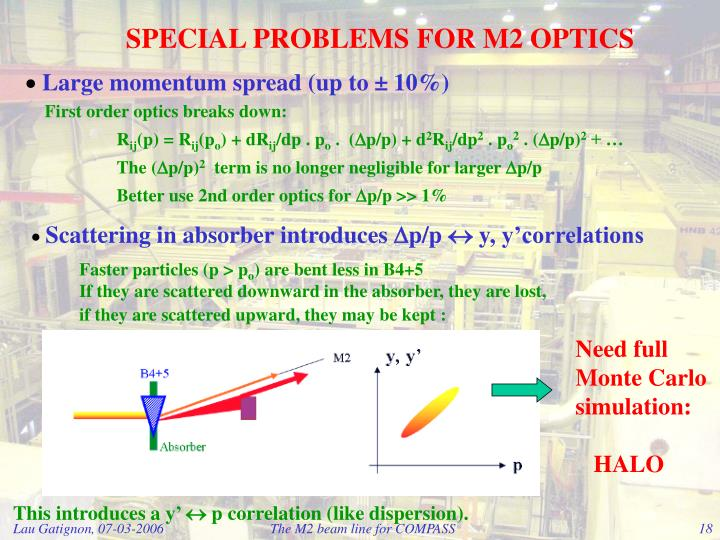 SPECIAL PROBLEMS FOR M2 OPTICS