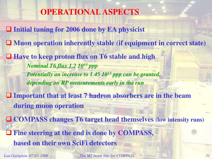 OPERATIONAL ASPECTS