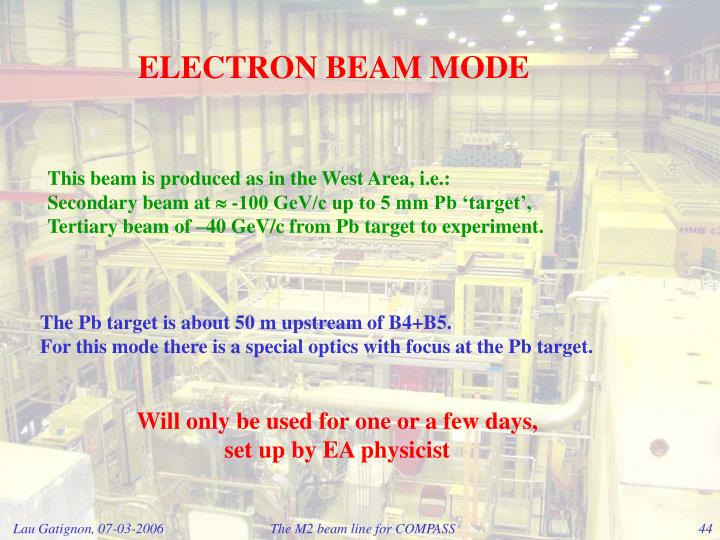 ELECTRON BEAM MODE