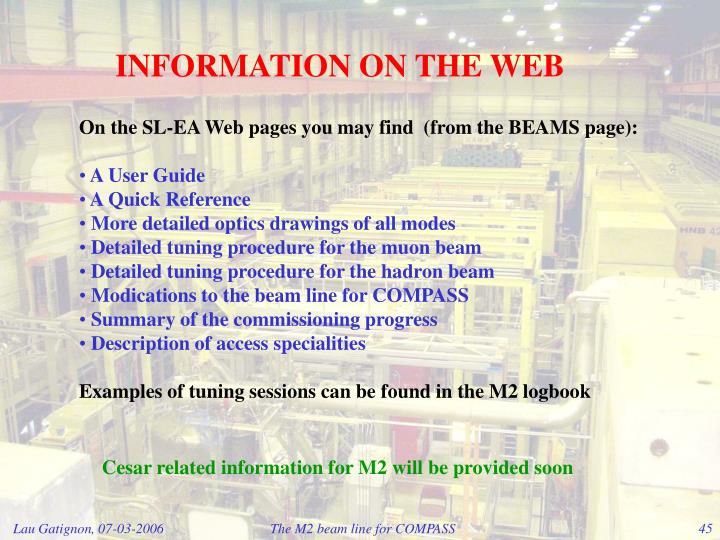 INFORMATION ON THE WEB
