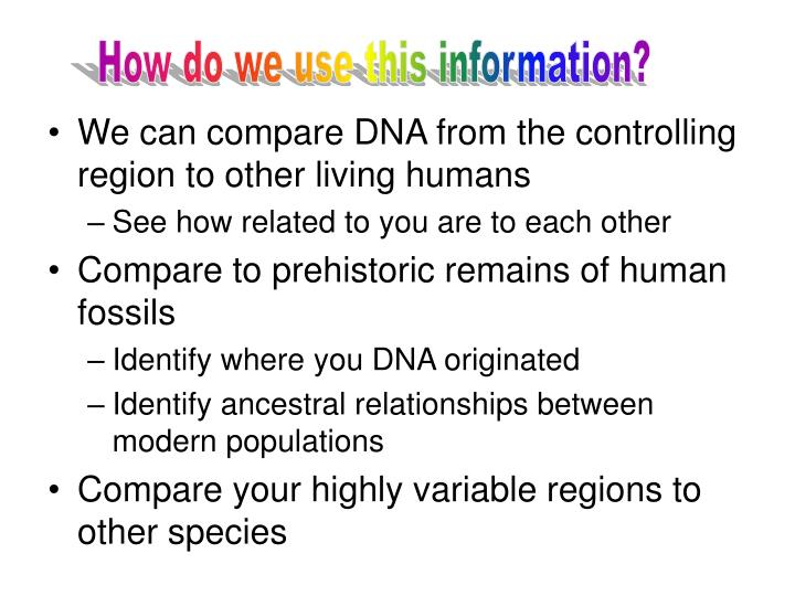 How do we use this information?
