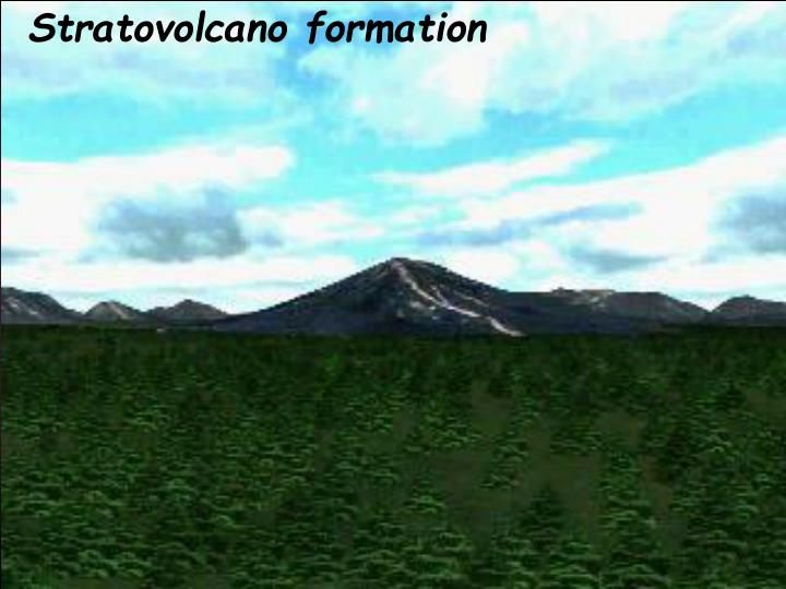 Stratovolcano formation