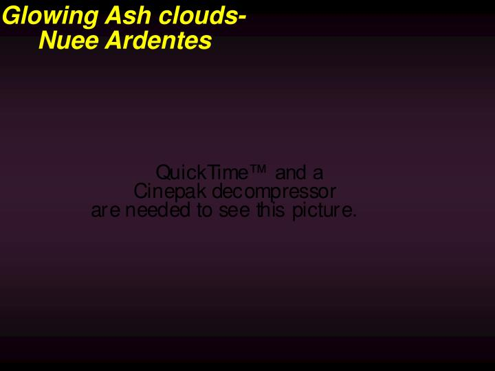Glowing Ash clouds-