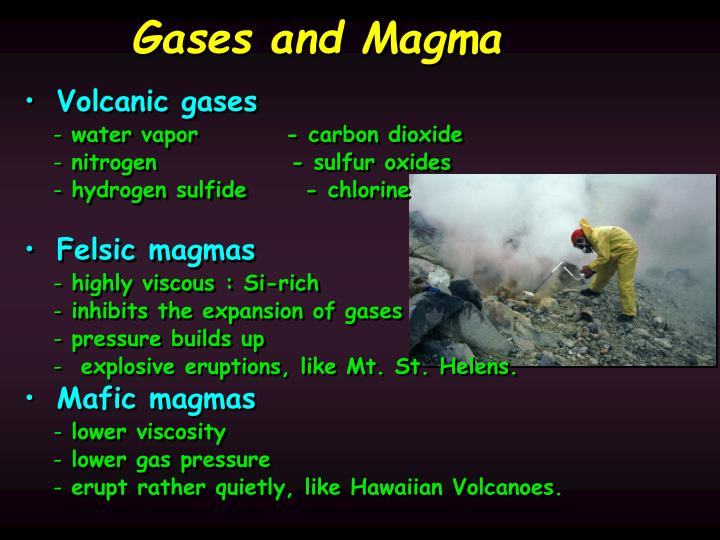 Gases and Magma