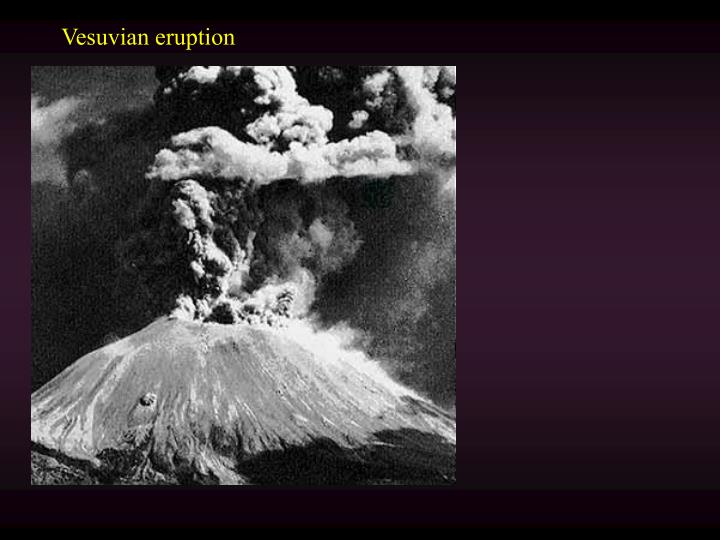 Vesuvian eruption