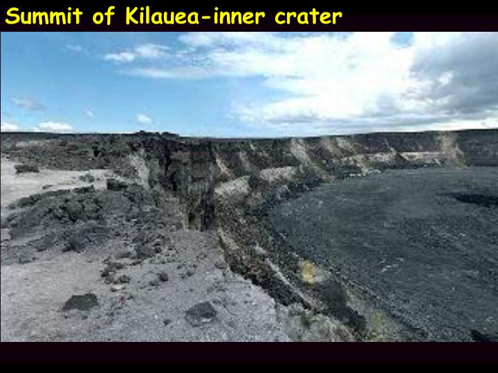 Summit of Kilauea-inner crater