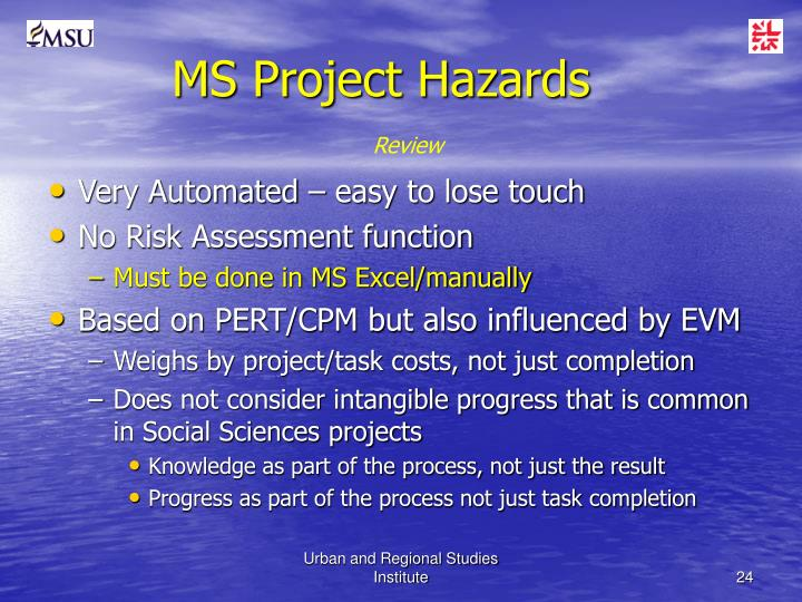 MS Project Hazards