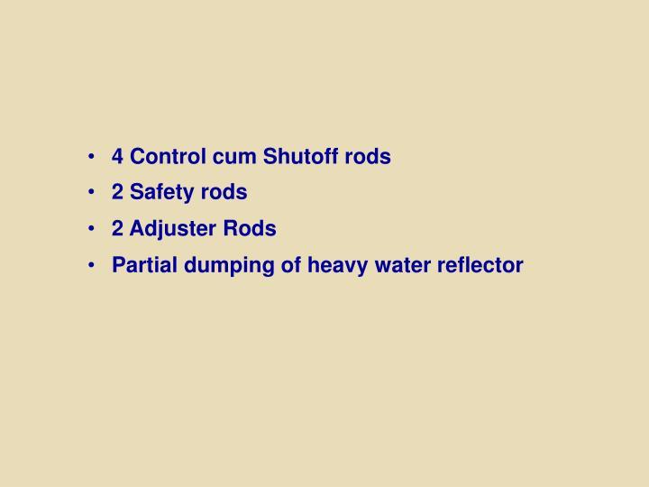 4 Control cum Shutoff rods