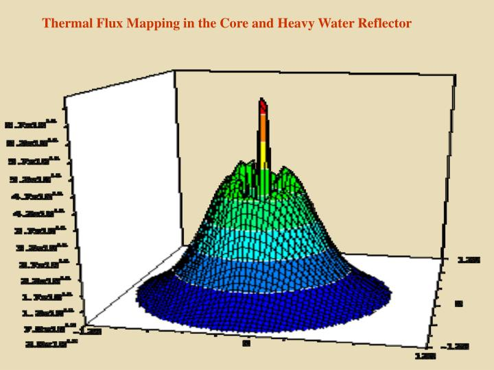Thermal Flux Mapping in the Core and Heavy Water Reflector
