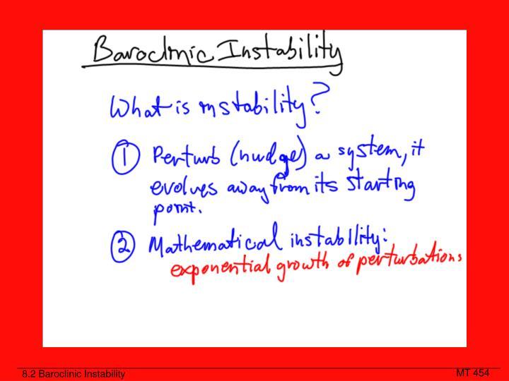 8.2 Baroclinic Instability