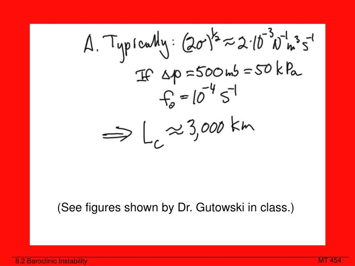 (See figures shown by Dr. Gutowski in class.)