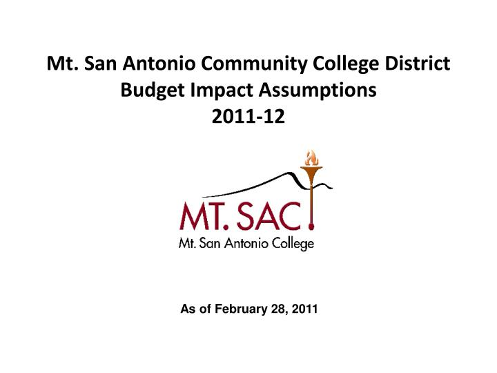 Mt. San Antonio Community College District