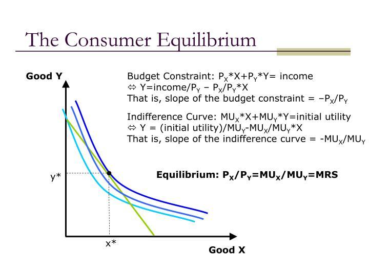 The Consumer Equilibrium