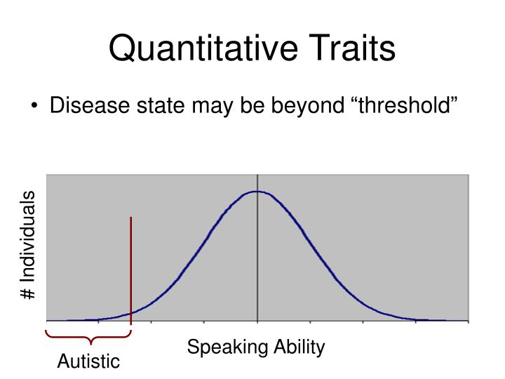 Quantitative Traits