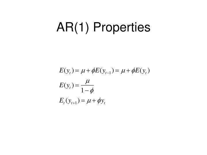 AR(1) Properties