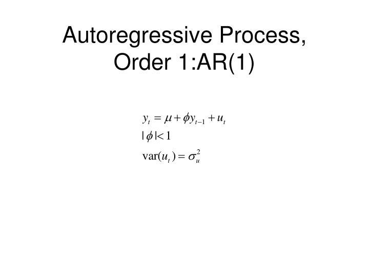 Autoregressive Process, Order 1:AR(1)