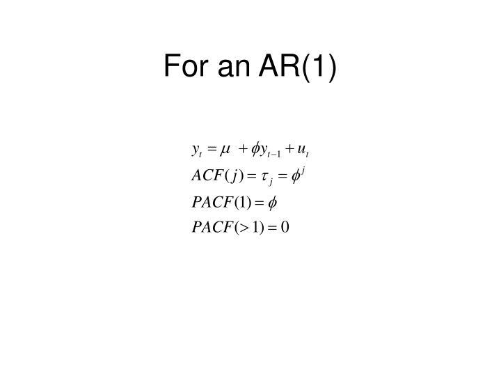 For an AR(1)