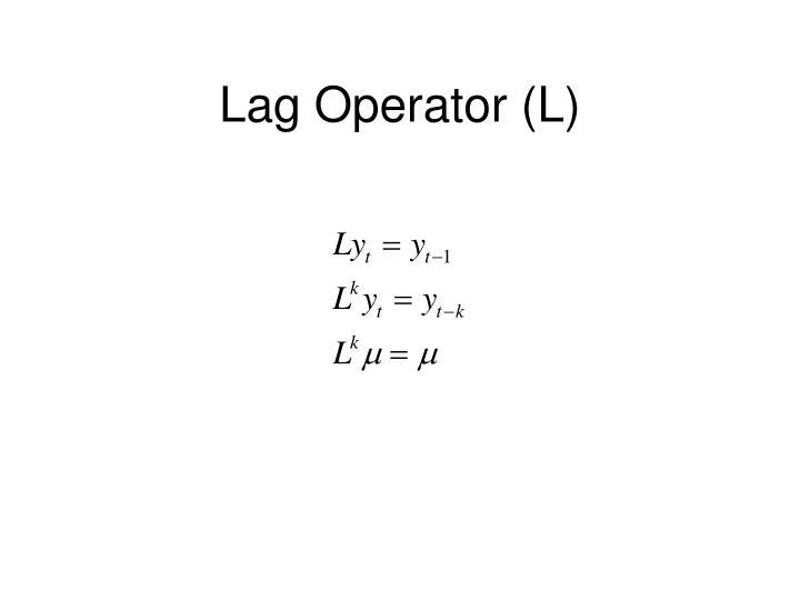Lag Operator (L)